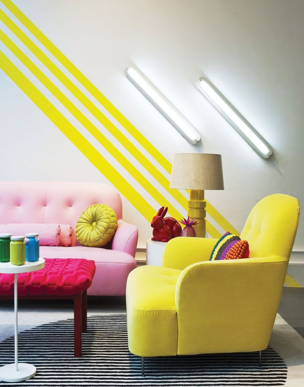 Fearless Trends: How to Pull Off Interior Color Blocking | Hirshfield\'s